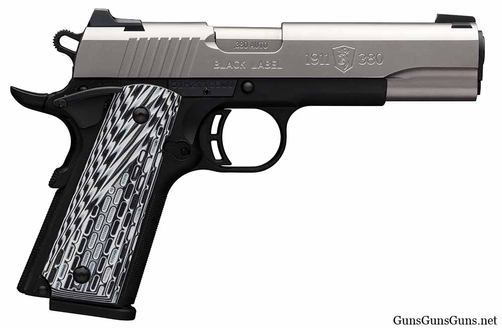 Browning 1911-380 Black Label Pro Stainless no rail photo