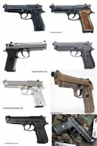 fullsize Beretta 92 pistols group picture
