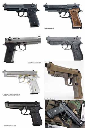 fullsize Beretta 92 pistols group picture