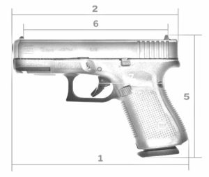 Glock 19 dimensions sketch