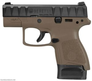 Beretta APX Carry FDE extended mag left side photo